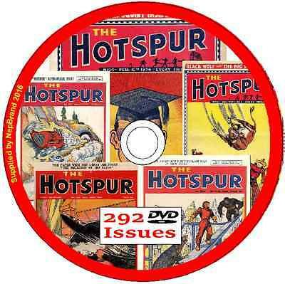 HOTSPUR British Comics  on DVD  - 292 issues , plus viewing software