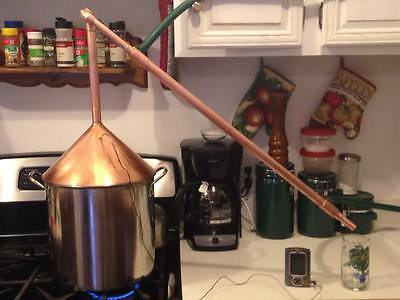 4 gallon moonshine still with adjustable condenser (worm)