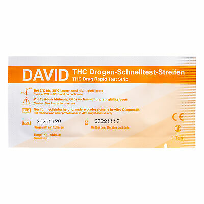 3 x Drogentest Streifen THC Cannabis Marihuana drug test by kernmed