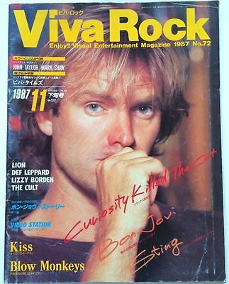 VIVA ROCK Japan Music Magazine 11/1987 Bon Jovi John Taylor Kiss Dee Snider Cult