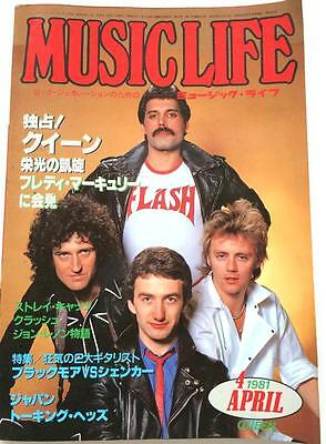 MUSIC LIFE 4/1981 Japan Magazine Queen Talking Heads Billy Joel, David Coverdale