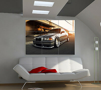 "BMW E36 Huge Art Giant Poster Wall Print 39""x57"" px86"