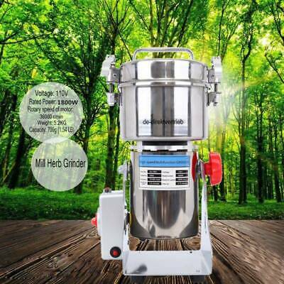 700g Electric Herb Grain Grinder Cereal Mill Flour Coffee Food Wheat Machine