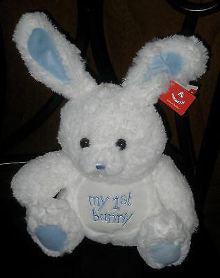 """Aurora World My 1st Bunny Plush, Blue, 10""""  ~ New with Tags"""