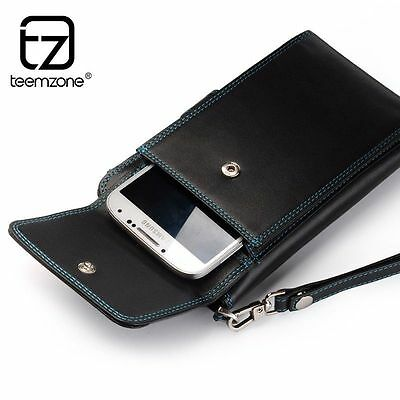 Men's Bifold Wallet Card Coin Cell Phone Holder Case Billfold Hipster Clutch