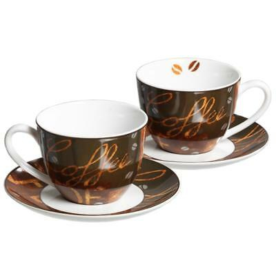 ritzenhoff breker chile cappuccino set zwei tassen untertassen porzellan eur 19 88. Black Bedroom Furniture Sets. Home Design Ideas