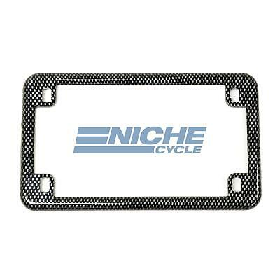 Faux Carbon Fiber Motorcycle License Plate Frame Surround Cover