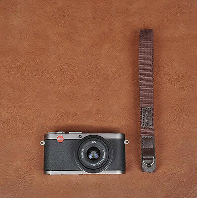Thin Coffee Cotton Cam-in Camera Strap with Rings CAM8025 UK Stock
