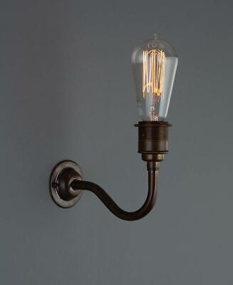 Metal Wall Sconce - Industrial Vintage Wall Light - Angled or Curved