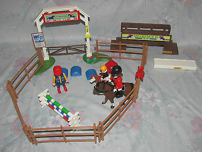 Playmobil Set 4185 Dressage Ring - Horse, Rider, Trainer, Jumps - Not Complete