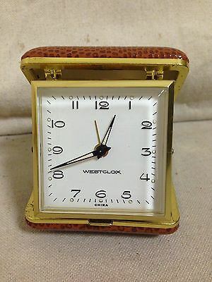 Vintage Westclox Travel Alarm Clock - Working