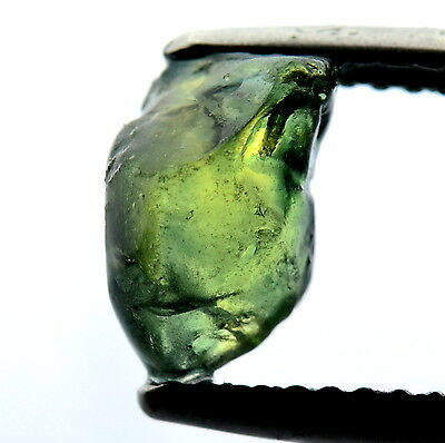 █50%OFF█INCREDIBLE NATURAL UNHEATED 2.16ct GREEN FACET ROUGH SAPPHIRE MADAGASCAR