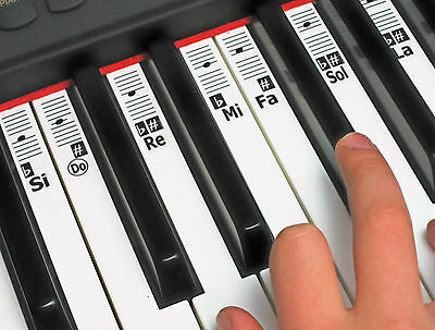 KEYNOTES Autocollants Note Musique Piano Solfège - Do - Re - Mi Solfa Clavier