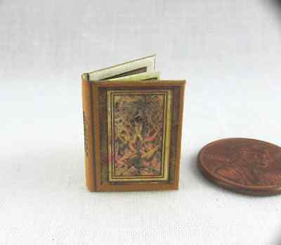THE GRIMOIRE READABLE MAGIC SPELL BOOK Dollhouse 1:12 SCALE COLOR ILLUSTRATED