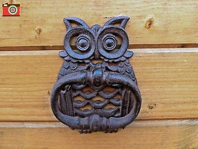 A Traditional Vintage Style Owl Door Knocker , Great Character, Cast Iron