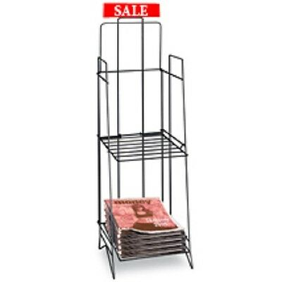Tabloid Newspaper Display Rack With Sign Holder Space saving (LOT OF 6 RACKS)