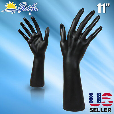 Female Black Mannequin Hand Display Jewelry Bracelet ring glove Stand holder