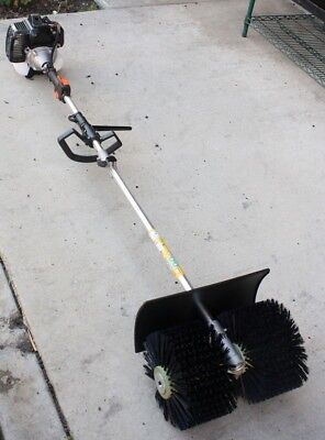 52cc GAS POWER HAND HELD WALK BEHIND SWEEPER BROOM CONCRETE DRIVEWAY CLEANING