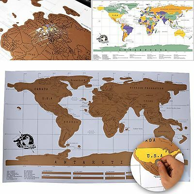 New Practical Scratch Off World Map Poster Personalized Travel Vacation Gift