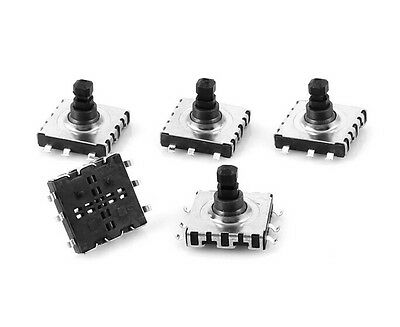 5 Pcs 10x10x9mm 6 Pin 5 Way Momentary Square SMD SMT Tactile Tact Switch