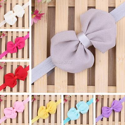Toddler Kid Girl Baby Infant Bowknot Princess Headband Hair Bow Band Accessories