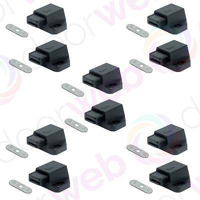 10 PACK MAGNETIC PUSH CATCH Pressure Touch Latch Kitchen Cabinet Cupboard Doors