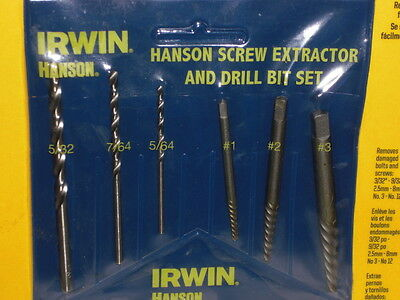 Irwin Hanson 6 Piece Screw Extractor Set 53700