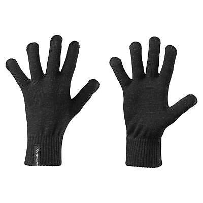 Kathmandu Mens Womens Close Fitting Warm Winter Merino Wool Gloves v2 Black