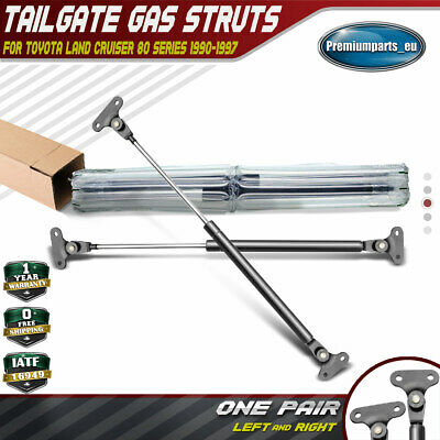 Set of 2 Tailgate Gas Struts for Toyota Land Cruiser 80 Series 1990-1997