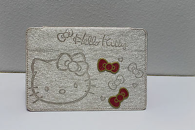 NEW Hello Kitty Cute Bow Leather Stand Case Cover For iPad Mini SILVER