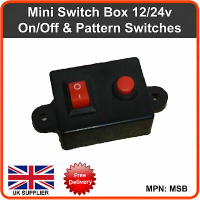 Switch Box 12/24v Useful with Premier Hazard / Siren LED Lightbar beacon