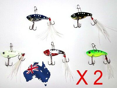 10X Fishing Switchblade Blade VIBE VIB Metal Lures 35mm 3.6g Bream Bass Flathead