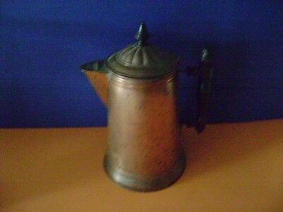 Antique Victorian Copper Coffee Pot Marked Rome Metal 6 Revere