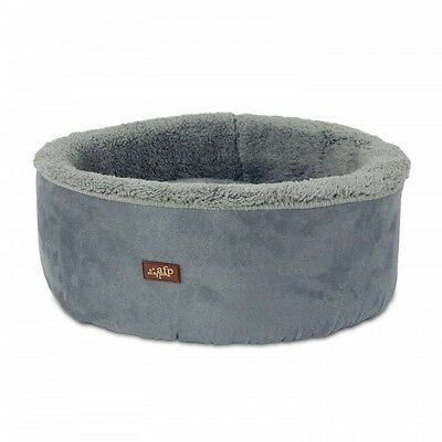 All For Paws Lamb Curl & Cuddle Cat Bed Grey