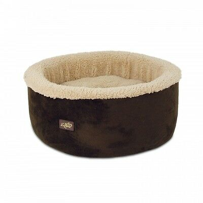 All For Paws Lamb Curl & Cuddle Cat Bed Brown