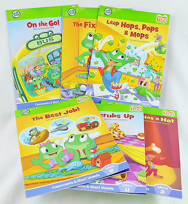 LeapFrog LeapReader Learn to Read 6 Book Set Tag Reader Vowels and Consonants