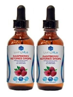 Two Month Supply Pure Raspberry Ketone Drops 200mg 4 oz. Weight Loss Supplements