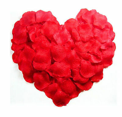 Fake Red Flower Rose Petals Scatter For Wedding Party Valentine's Day Decoration