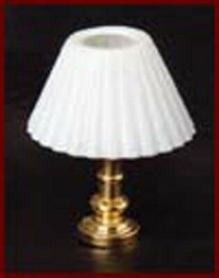 1:12 Scale Working Table Light White Shade Dolls House Miniature Accessory 1030