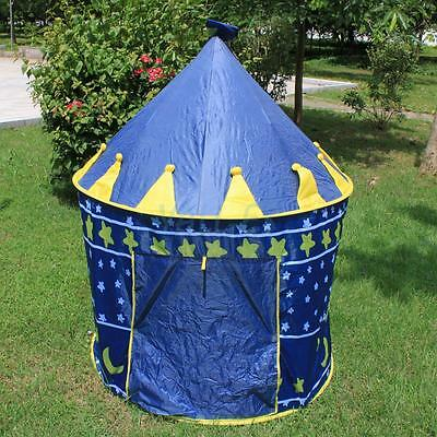 Children Kids Playhouse Princess Castle Game Play Tent Indoor Outdoor Blue US