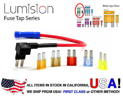 New Add-A-Circuit Blade Style Atr Micro 2 Fuse Holder Fuse Tap + Micro2 Fuse Set