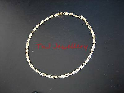 NEW Genuine 9ct 9k Solid Yellow Gold Singapore Pattern Anklet FREE POSTAGE