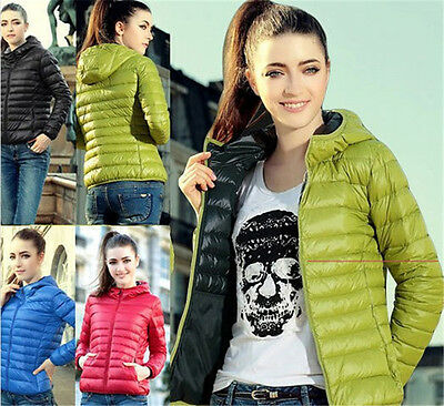 Hot! Womens Winter Warm Candy Color Thin Slim Down Coat Jacket Overcoat Parka