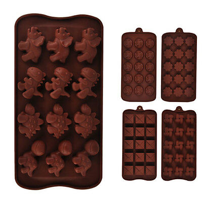 Chocolate Cake Cookie Candy Jelly Ice Baking Silicone Mould Mold Bakeware