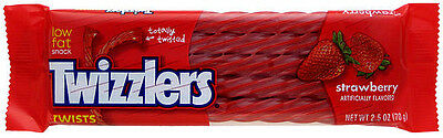 Strawberry Twizzlers 70g American Liquorice/Candy from American Goodies