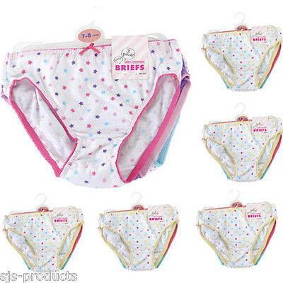 3,6,12 Pairs of Girls Kids 100% Cotton Briefs Pants Knickers 2 3 4 5 6 7 8 Years