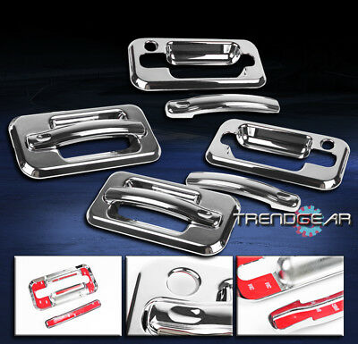 2003-2009 Hummer H2 Suv Sut Door Handle Covers Trims Bezel Guard Moulding Chrome