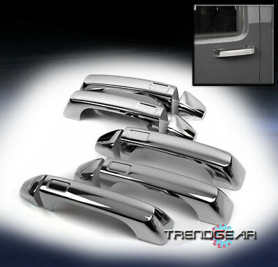 2006-2010 Hummer H3 Side Door Handle + Tailgate Covers Trim Chrome 2008 2009