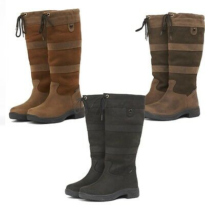 New WATERPROOF DUBLIN RIVER BOOTS Standard & Wide Size 3-10 UK Horse Riding Boot