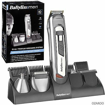 NEW BaByliss 7235U 10-in-1 Rechargeable Hair Grooming Trimmer Kit System for Men